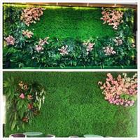 tapis de pêche achat en gros de-Gazon artificiel gazon artificiel pelouse artificielle tapis Pet Food Mat 40 * 60cm25 * 25cm12.5 * 12.5cm poissons en plastique réservoir Fausse herbe à gazon