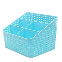 ingrosso scompartimenti contenitori-Cosmetici multi-compartimento in rattan d'imitazione, scatola per la classificazione dei detriti da telecomando, 5-Lattice