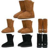 ingrosso stivali alti in coscia-WGG donne popolari marrone nero invernali caviglia Boots Australia marrone alto Bailey neve delle donne di lavoro sopra il ginocchio Stivali a metà coscia pelliccia