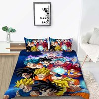 Wholesale queen bedding sets for boys for sale - Group buy Dragon Ball Bedding Set Universe Fashionable Classic Duvet Cover For Boys King Queen Full Twin Single Double Bed Cover with Pillowcase