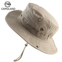 4b5b9af65db Men Women Summer Bucket Hats Outdoor Fishing Wide Brim Sun Hat UV  Protection Panama Hat Men Hiking Sombrero Boonie Hat For Women