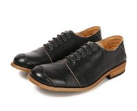 klasik dikiş dantel toptan satış-Japonya Tarzı erkek Elbise Ayakkabı Hakiki Deri Lace Up Yumuşak Sole Vintage El Yapımı Dikiş Patchwork Akıllı Rahat Ayakkabılar Adam Oxfords