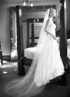 Wholesale pink wedding veil resale online - Elegant Popular White Ivory Champagne Red Black Purple Pink Bridal Veil One tier Pencil Edge Chapel Length Meidingqianna Brand Wedding Veil