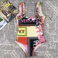 impresión de monokini al por mayor-Traje de baño Pieza Traje de baño moda Imprimir Traje de baño femenino Monokini mujeres Body Maillot Beach usar natación G-g4