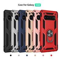 держатели для iphone phone оптовых-Чехол для телефона Hybrid Armor с магнитной подставкой для пальцев и протектором для iPhone XS XR Samsung Galaxy S10 S9 S8 Note9 Huawei P30