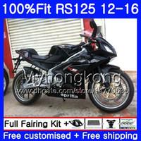 Wholesale aprilia rs4 125 fairing resale online - Injection OEM For Aprilia RS RS125RR RS4 HM RSV125 RS RS125 Fairing Gloss black kit