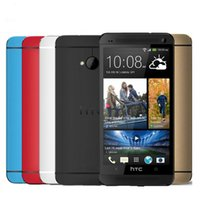 Wholesale m7 phone online – custom Original Unlocked HTC One M7 GB RAM GB ROM Screen Quad Core Android Refurbished Phone