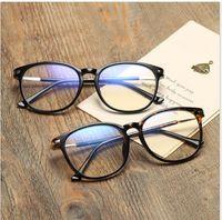 big framed glasses retro großhandel-Runde Unisex Big Box Anti-Blau Brillengestell Retro Student