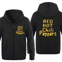рок-музыка оптовых- Rock Music Sweatshirts Men 2018 Mens Zipper Hooded Fleece Hoodies Cardigans