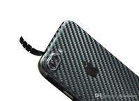 iphone için dekal cilt toptan satış-Karbon Fiber Telefon Çıkartmaları Iphone 7/7 P Cep Telefonu Skins Mat Sticker Çizilmeye Dayanıklı 0.15 MM Telefonunuzu Koruyun Ve cimri