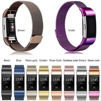 Wholesale fitbit bracelet charge for sale – best Stainless Steel Magnetic Milanese Loop Band for Fitbit Charge Replacement Wristband Strap for Fitbit Charge2 band Watchband Bracelet