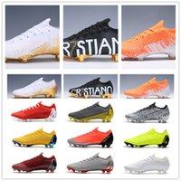 topuk ayakkabıları kız çocukları toptan satış-2019 Düşük Topuk Erkekler Mercurial Superfly VI 360 Elite FG Futbol Ayakkabı Çocuk Boy Kız CR7 Neymar FG Futbol Profilli Ronaldo Kadın Futbol Boots