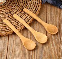 holzküche baby großhandel-Holz Jam Bambus Löffel Baby-Honig Löffel Kaffeelöffel der Küche mit Menage Kleinen 12.8 * 3cm