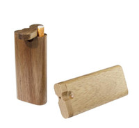 Natural Wooden One Hitter Dugout Pipe Handmade Wood Dugout with Ceramic Pipe Cigarette Filters Pipes Smoking Pipes Wooden Dugout Pipe Box