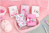 Wholesale pu leather business card holder case for sale - Cute flamingo bits card ID holders case PU leather function business card holder women credit passport card bag