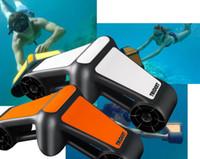 gopro mergulho venda por atacado-Geneinno Trident Sea Scooter 600 W 50 M Subaquática Scooter Snorkeling Mergulho Acelerador de Acelerador de Natação Impulsionador com Gopro Mount