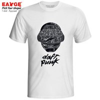 Wholesale punk t shirt designs for sale – custom Daft Punk T Shirt French Electronic Duo Brand Funk Techno Disco Rock Synthpop Design T shirt Print Fashion Unisex Tee