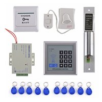 Wholesale rfid doorbell for sale - Group buy DHL DIY RFID ID Access Control System Kit Set khz Access control keypad Electric Bolt lock Button DoorBell Keyfob For Home Office