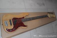Wholesale precision guitars resale online - New Arrival Custom Guitar Rosewood F Precision Bass Guitar Burlywood Strings natural Wood Bass Electric Guitar