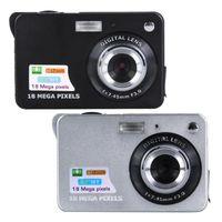 lityum video kameralar toptan satış-18MP Siyah / Gümüş Dijital Kamera DV Kamera 2.7in TFT CMO Sensörü lityum pil LCD Dijital Kamera Kamera DV 8X