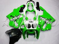 98 kawasaki ninja zx7r verkleidung großhandel-4Gifts Neue ABS-Motorradverkleidungen passend für kawasaki Ninja ZX7R 1996-2003 ZX7R 96 97 98 99 00 01 02 03 Verkleidungssätze Grünweiß
