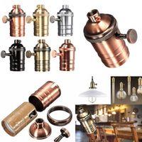 Wholesale e27 lamp holders aluminum for sale - Group buy Vintage Edison Lamp Socket E26 E27 Screw Bulb Base Aluminum Lamp Holder Industrial Retro Pendant Fittings Lampholders Fixture SY0463