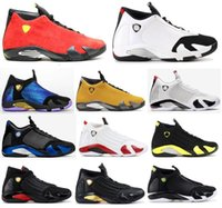kırmızı şeker kutuları toptan satış-Yeni 14 14s Siyah Burun Fusion Varsity Kırmızı Süet Doernbecher Erkekler Basketbol Ayakkabı Şeker Kamışı Son Shot Thunder DMP İndiglo Sneakers ile Kutusu