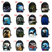 sacs à dos de dragon achat en gros de-16 styles Toothless Hiccup Cartoon Sac à dos Comment former votre Dragon 3 Backpack Kids School Bags enfants cartable FFA1663 30pcs