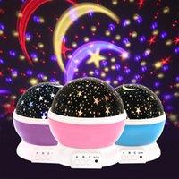 oyuncak piller açtı toptan satış-Yenilik Aydınlık Oyuncaklar Romantik Yıldızlı Gökyüzü LED Gece Işığı Projektör Pil USB Gece Lambası Yaratıcı Doğum Günü Oyuncaklar Çocuklar Için