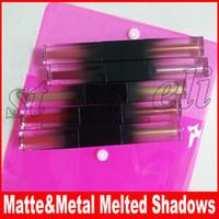 metal sim toptan satış-Güzellik Göz Makyaj Çift kafa mat metal sıvı göz farı seti 5 adet / takım fosforlu sıvı göz farı sıvı Erimiş Gölgeler kozmetik