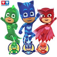 máscaras pj pj venda por atacado-Máscaras Auldey PJ Meninos Modelo 15CM Assinatura Gekko Catboy Owlette acender Som Figura Veículo Série das meninas do presente do presente Brinquedos 3-6T 04