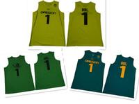 красно-зеленые желтые яблоки оптовых-2019 NCAA Орегонские утки # 1 Бол Бол Яблоко Темно-зеленый Желтый Джерси NC State Wolfpack # 4 Смит-младший Красный белый Денис Колледж Баскетбол Трикотажные изделия