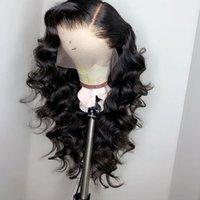 perücken brasilianisches haar natürlich großhandel-Brasilianische Loose Wave Lace Front Echthaar Perücken für schwarze Frauen Pre mit natürlichen Haaransatz Babyhaar 150% Dichte gezupft