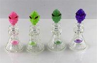 pozos de agua al por mayor-Tubería de agua de vidrio de nuevo diseño Alien, plataforma petrolífera de vidrio mini, colgador de brazalete, tazón de vidrio de 14 mm, calidad y funcionalidad. 6 pulgadas de altura