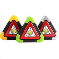 luces de advertencia portátiles al por mayor-Luz de advertencia solar Luz de advertencia de falla de tráfico LED Lámpara de trabajo portátil COB Lámpara de trabajo LJJZ157