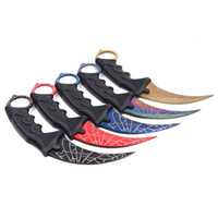 Wholesale training karambit for sale - Group buy Karambit Knife CS GO Counter Strike Training Survival Pocket Knife Fixed Blade Game claw knife Stainless Steel Outdoor Camping EDC Tools