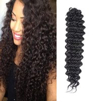 Wholesale synthetic hair deep curls for sale - Group buy 18inches Crochet Hair Synthetic Deep Water Wave Braiding Hair Weave Extensions Afro Jerry Curl Twist Braids Hair for Black Women Packs