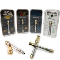 ingrosso liquido libero di vape-Knuckles Brass Knuckles Pyrex Glass 1.0ml Oro BUD Touch Olio denso Vape Atomizzatore Vape Pen E-liquid Serbatoi di olio DHL libero