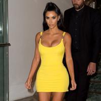 vestido amarillo kim al por mayor-