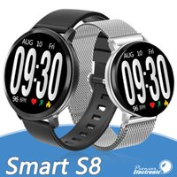 Wholesale smart android watch s8 resale online - S8 Smart Watch fitness tracker Heart Rate bracelet smartwatch Monitor IP67 Waterproof Step for apple watch PK DZ09 ios android smart phone