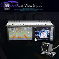 Wholesale mp4 remote resale online - Car Radio FM Radio MP4 MP3 Steering Wheel Remote Control p Video Bluetooth Stereo Automatic Audio Touch Screen EQ Sound