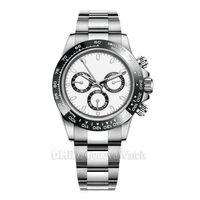 otomatik analog saat toptan satış-Lüks Erkek Saatler 116500LN Tasarımcı İzle Montre De Luxe Otomatik Saatı Seramik Bezel 316L Çelik Ayarlanabilinir Katlanır Toka 19 Renk