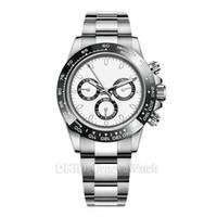 fivela de relógio de aço venda por atacado-Luxo Mens Relógios 116500LN Designer Assista Montre De Luxe Relógios de pulso automáticos Ceramic Bezel 316L Aço Adustable Folding Buckle 19 cores