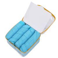 blaue magische kleider großhandel-Sticky Sponge Fabric Lockenwickler Sleep Styler Kit Lange Lockenwickler DIY Styling Tools Blaue Farbe Magic Hair Dressing