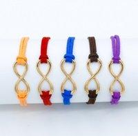 ingrosso migliori regali avvolge-I migliori amici Lucky 8 braccialetti di velluto di colore solido braccialetti amano i regali dei monili per i braccialetti dell'involucro della mamma