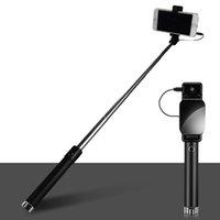 selbstbedienung für handy großhandel-Selfie-Stick, Neues Muster, Drive-by-Wire, Falten, Tragbar, Selbstauslöser für Mobiltelefon, Mini-Selbstauslöserstange, Geschenkanpassung