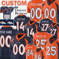 maillots de football peyton manning achat en gros de-Denver personnalisés Bronco Champ Bailey 14 Courtland Sutton Jersey 27 Steve Atwater Chris Harris Jr Shannon Sharpe Peyton Manning verrouillage Football