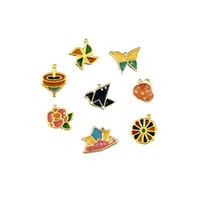 Wholesale pendant frames resale online - 4pcs Butterfly Windmill Metal Frame Pendant Charm Bezel Setting Cabochon Setting UV Resin Charm Necklace Earring Findings