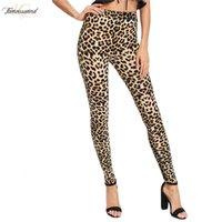 drop ship leggings impressos venda por atacado-Legs Fashion Women Leggings Magro cintura alta elasticidade Leggings Leopard Mulher Printing calças de algodão Leggings Drop Shipping