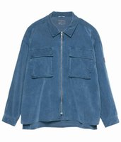 ko groihandel-2020 Beste Version CAVEMPT Vintage-Zip-Shirt-Jacke Männer Frauen Corduroy Loyal Blau Loose Fit Coat CAV EMPT C. E. Taschen Jacken Herren